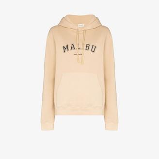 Saint Laurent Malibu print cotton hoodie