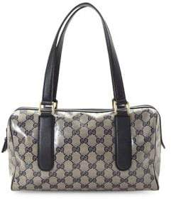 Gucci Vintage GG Crystal Boston Canvas Top Handle Bag