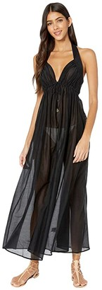 Stella McCartney Fine Straps Long Dress (Black) Women's Dress