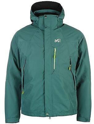 Millet Mens Pobeda 3:1 Jacket Top Coat Full Zip Chin Guard Hooded
