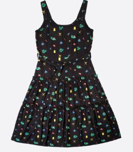 Lowie Camping Print Josephina Dress - M - Black