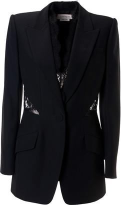 Alexander McQueen Laced Detail Blazer