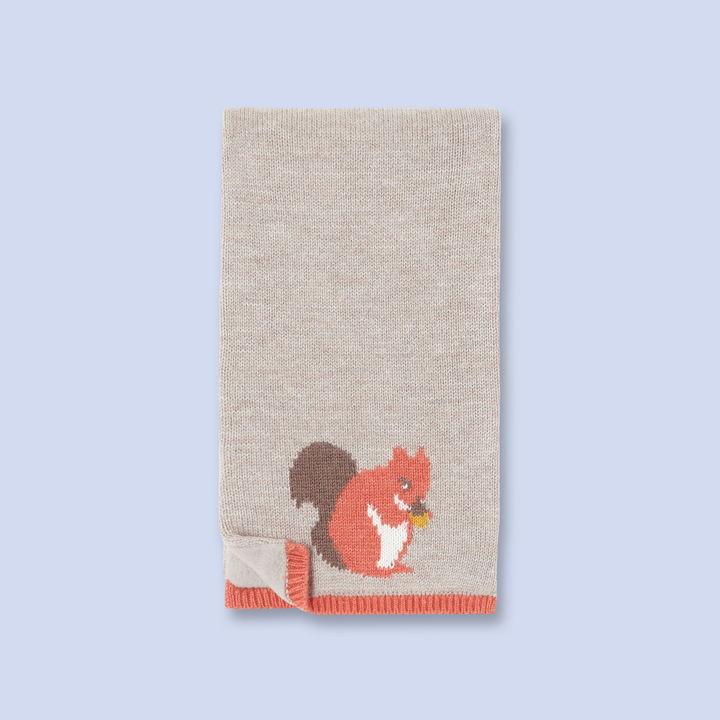 Jacadi Squirrel print scarf