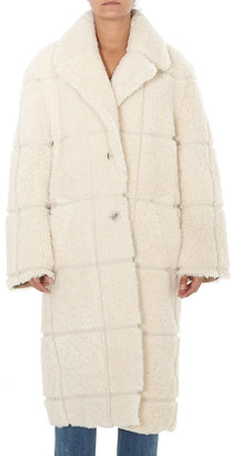 Off-White Shearling Coat
