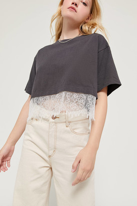 Urban Outfitters Joel Lace Trim Boxy Tee