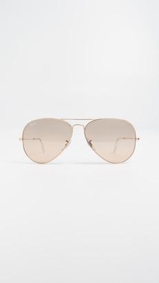 Ray-Ban RB3025 Oversized Mirrored Original Aviator Sunglasses