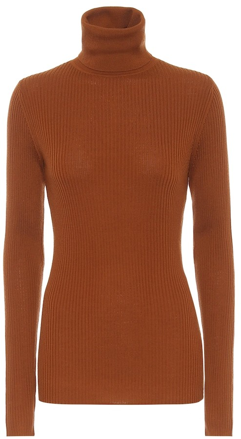 Joseph Ribbed knit wool turtleneck sweater