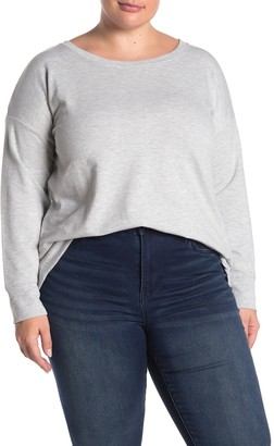 90 Degree By Reflex Back Lace-Up Knit Pullover (Plus Size)