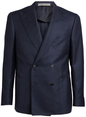 Corneliani Cashmere-Silk Tailored Jacket