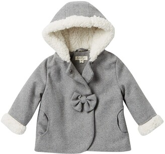 Jessica Simpson Faux Shearling Trimmed Coat