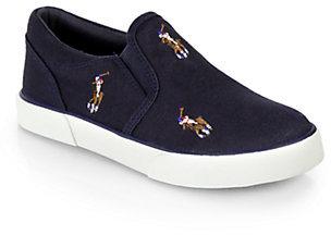 Ralph Lauren Boy's Bal Harbour Repeat Slip-On Sneakers