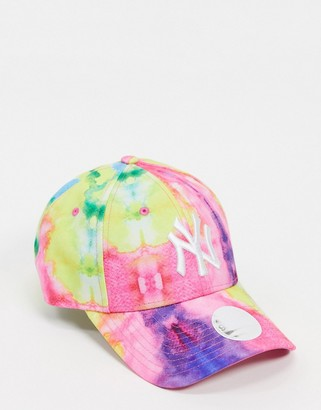 New Era 9Forty NY cap in bright tie dye