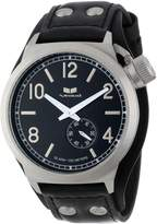 Vestal Men's CTN3L06 Canteen Leather Black Silver Cuff Watch