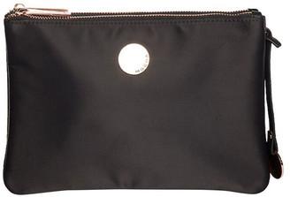 Mocha Lifestyle Double Pocket Crossbody - Black/Rose Gold Two