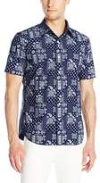 Jack Spade Men's Clift Bandana Short Sleeve Button Down Shirt
