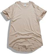 OQIU Mens Extended Hip Hop T Shirts C 1L