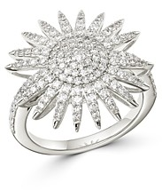 Bloomingdale's Diamond Starburst Statement Ring in 14k White Gold, 1 ct. t.w. - 100% Exclusive