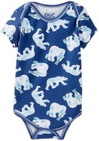 Beanstalx Polar Bear Short Sleeve Bodysuit (Baby Boys)