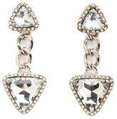 Charlotte Russe Rhinestone Triangle Drop Earrings