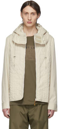 Helmut Lang Off-White Quilted Zip Jacket