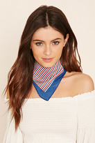 Forever 21 FOREVER 21+ Striped Square Scarf