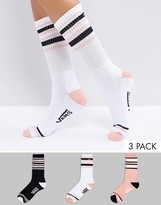 Vans 3 Pack Double Play Crew Socks