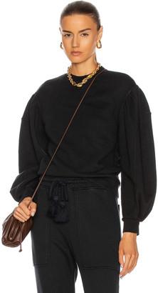 Ulla Johnson Ava Pullover Sweater in Onyx | FWRD