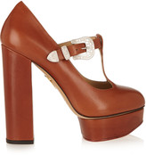 Charlotte Olympia Ryder leather Mary Jane platform pumps