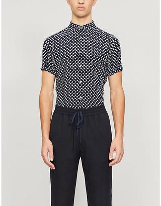 Emporio Armani 3D-print woven shirt