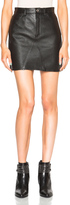 Saint Laurent A Line Leather Skirt