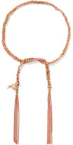 Carolina Bucci Celebration Lucky 18-karat Rose Gold, Diamond And Silk Bracelet - one size
