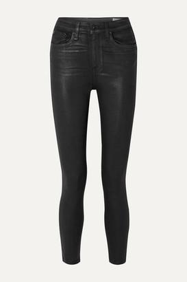 Rag & Bone Nina Coated High-rise Skinny Jeans - Black