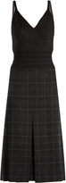 Bottega Veneta Checked wool-blend pencil dress