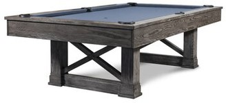 Iron Smyth The Farmhouse 8' Pool Table With Professional Installation Included Finish: Charcoal, Felt Color: Academy Blue