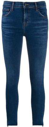 J Brand Zipped Hem Skinny Jeans