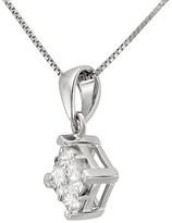 Diamond 1/2 CT.T.W. Princess-Cut Composite Set Pendant Necklace in 14K White Gold (IJ, I2)