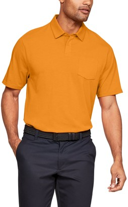 Under Armour Men's Charged Cotton Scramble Performance Golf Polo
