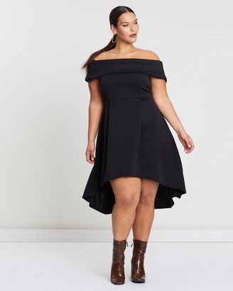 Missguided Curve Bardot High-Low Dress