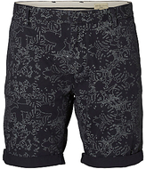 Selected Homme Print Shorts, Navy