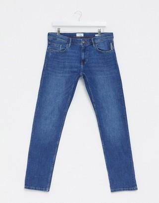 Esprit slim fit jeans in mid wash blue
