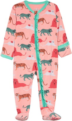 Kickee Pants Wild Cats Print Footie