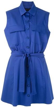 Gloria Coelho Sleeveless Shirt Dress