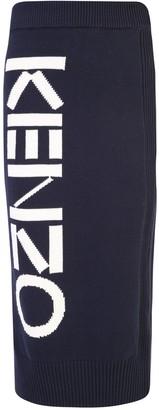 Kenzo Knitted Logo Print Shirt
