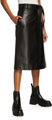 Balenciaga Flat Leather Wrap Skirt