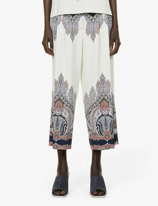 Etro Corsica high-rise relaxed-fit stretch-woven trousers