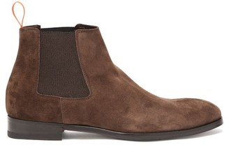 Paul Smith Crown Suede Chelsea Boots - Dark Brown