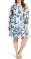 Eliza J Plus Size Women's Cold Shoulder Dress