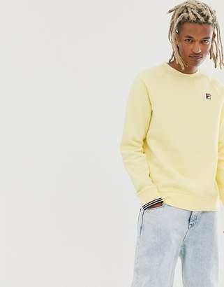 Fila Pozzi fleece sweat in yellow