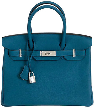 One Kings Lane Vintage Hermes 30cm Blue Togo Birkin Bag - Vintage Lux