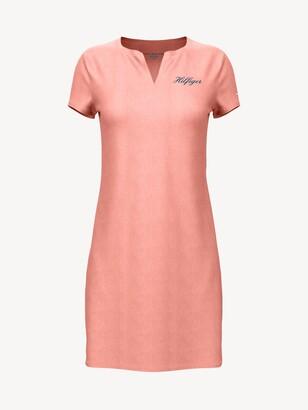 Essential Split-Neck Dress